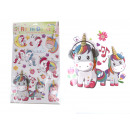 Decorative unicorns stickers mix 59x39 cm
