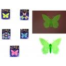 Matricák fluoreszkáló lepkék, pillangók 24x29 cm