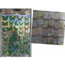 groothandel Wandtattoos: Muurstickers  metalen vlinders 58x35 cm
