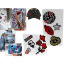 grossiste Cadeaux et papeterie: Autocollants,  badges mélange de motifs sur les vêt