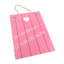 wholesale Pictures & Frames: Picture of a wooden pendant Sentences pink ...