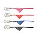 Collier avec bandana 31 cm, mélange de couleurs -