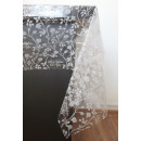 Asztalterítő, dekoratív fólia fehér mintával átlát