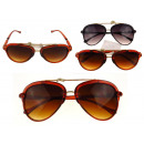 wholesale Sunglasses: Black, brown sunglasses - 1 pcs