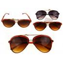Großhandel Sonnenbrillen: Schwarze, braune Sonnenbrille - 1 Stück