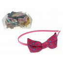 wholesale Hair Accessories: Headband with bow - 1 piece