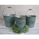 wholesale Cleaning: Buckets galvanized  garden garden set 3 pieces