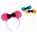 wholesale Hair Accessories: Party band mouse  ears with a bow led 20x19 cm