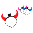 wholesale Hair Accessories: Party headband  with led horns 19x19 cm
