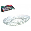 Großhandel Geschirr: Glasplatte ala Kristall mit Partitionen 31x21 c
