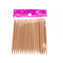 wholesale Toiletries: Cosmetic sticks manicure 20 piece 7 cm in fol