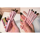 wholesale Make-up Accessoires: Makeup brushes, set of 5 in a metal t