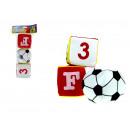 groothandel Ballen & clubs: 7,5 cm zachte bal en kubussen - set