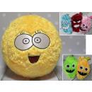 Großhandel Spielwaren: Plüsch Pelzball mit Smiley flachen Augen 40 cm