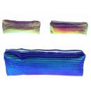 Großhandel Schulbedarf: Kosmetische Federtasche 20x6 holografische ...