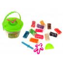 Secchio di plastica 12 colori con un orologio 8.5x