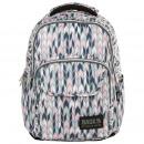 Backpack backup couleurs pastel, motifs géométriqu