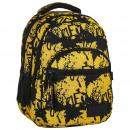 Großhandel Taschen & Reiseartikel: Rucksack Backup gelb mit schwarzen Untertiteln 2 M