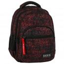 Großhandel Taschen & Reiseartikel: Rucksack Backup schwarz in rot mazajki 2 Modell m4