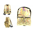 Großhandel Rucksäcke: Holographischer Rucksack mit 2 Taschen 40x30x16 cm