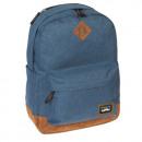 Großhandel Jeanswear: Rucksack aus blauen Ala-Jeans mit Wildledereinsätz