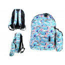 Blue school backpack with unicorns 41x37x12 cm wit