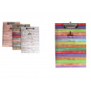 A4 document pad with board pattern clip -
