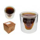 grossiste Articles de fête: paroi de verre Podówjna du crâne 7x6,5 cm - 1 s