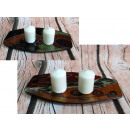 Candle holders painted glass tapered