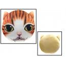 grossiste Coussins & Couvertures: coussin chats en peluche tête 31 cm