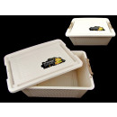 Container, basket,  plastic box with lid 29.5x21.5