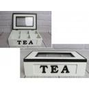 grossiste Organisateurs et stockage: Récipient, boîte en bois pour thé 26x18x7