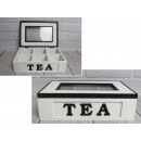 Pojemnik, pudełko drewniane na herbatę tea 26x18x7