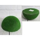Emisfero floccato in polistirene verde 14,5x6,5 cm