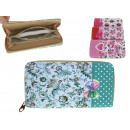 wholesale Bags & Travel accessories: Women's wallet flowers 19x9,5 cm (mix color)