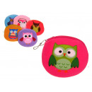 wholesale Wallets: Purse, beautician 10 cm owl - 1 piece
