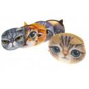 groothandel Reisartikelen: Purse, cosmetische  katten 12x8 cm - 1 stuk