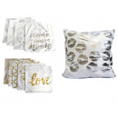 duvet cover for white and gold pillow 42x42 cn mix