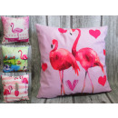 hurtownia Poduszki & koce: Poszewka na poduszkę flamingi 43x43cm