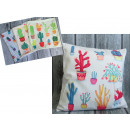 duvet cover for a pillow cacti mix 43x43 cm