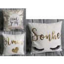 wholesale Cushions & Blankets: duvet cover for the pillow, golden prints mix of 4