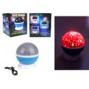 grossiste Electronique de divertissement: Projecteur de balle à led 13x11 cm avec piles