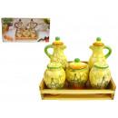 groothandel Keukengerei: Spice keramische  geschilderd op hardhout