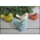 Großhandel Sonstige: Vogel Keramik Pastell 6x4 cm