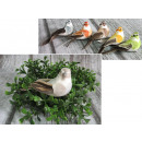 Großhandel Schmuck & Uhren: Vogel mit Federn auf einem Clip, 10x4 cm - 1 st