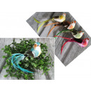 wholesale Earrings: Bird with feathers on the clip color 14.5x4 cm - 1