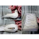 wholesale Earrings: Bird with feathers on a white clip 12.5x5 cm - 1