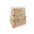 cajas de regalo  rectangulares Set de 4 piezas (n