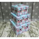 scatole regalo turchese set 3 pezzo (13x