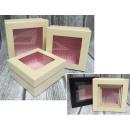 Großhandel Geschenkverpackung: Geschenkboxen mit Fensterset von 3 Stück